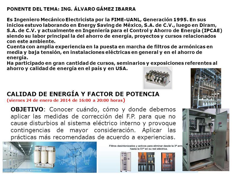 CALIDAD DE ENERGÍA Y FACTOR DE POTENCIA