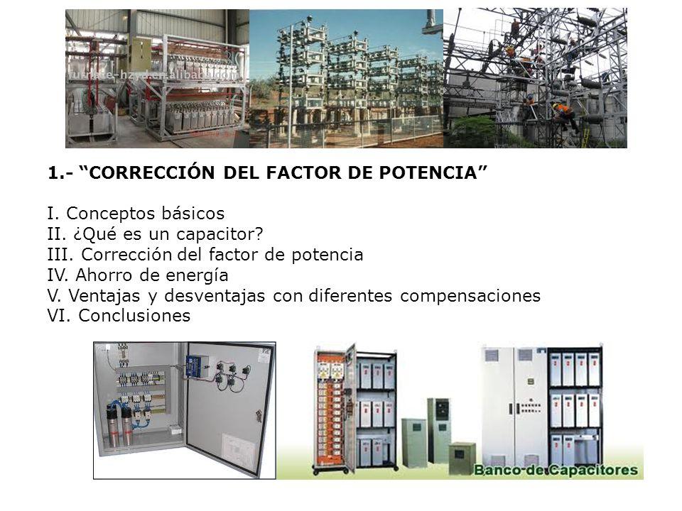 1.- CORRECCIÓN DEL FACTOR DE POTENCIA