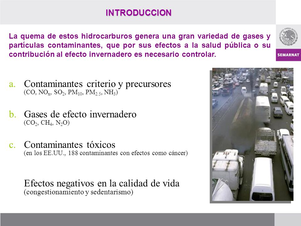 Contaminantes criterio y precursores (CO, NOx, SO2, PM10, PM2.5, NH3)