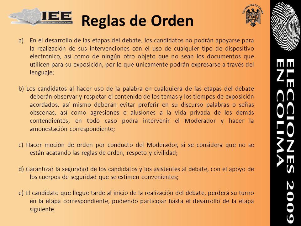 Reglas de Orden