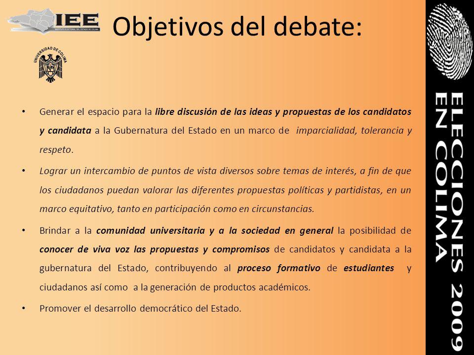 Objetivos del debate: