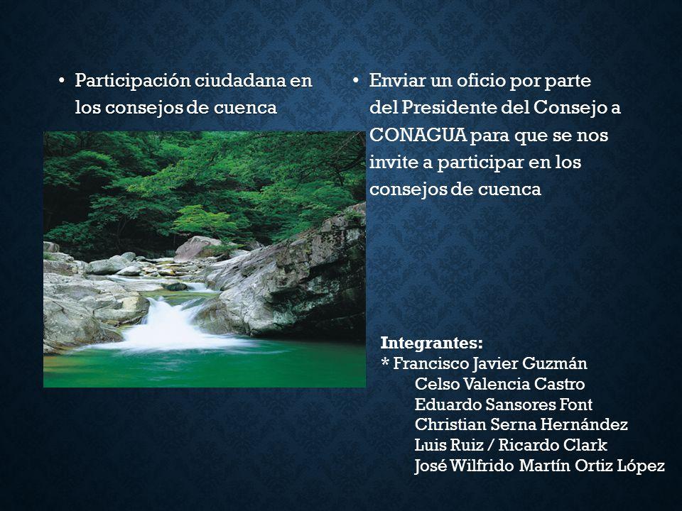 Participación ciudadana en los consejos de cuenca