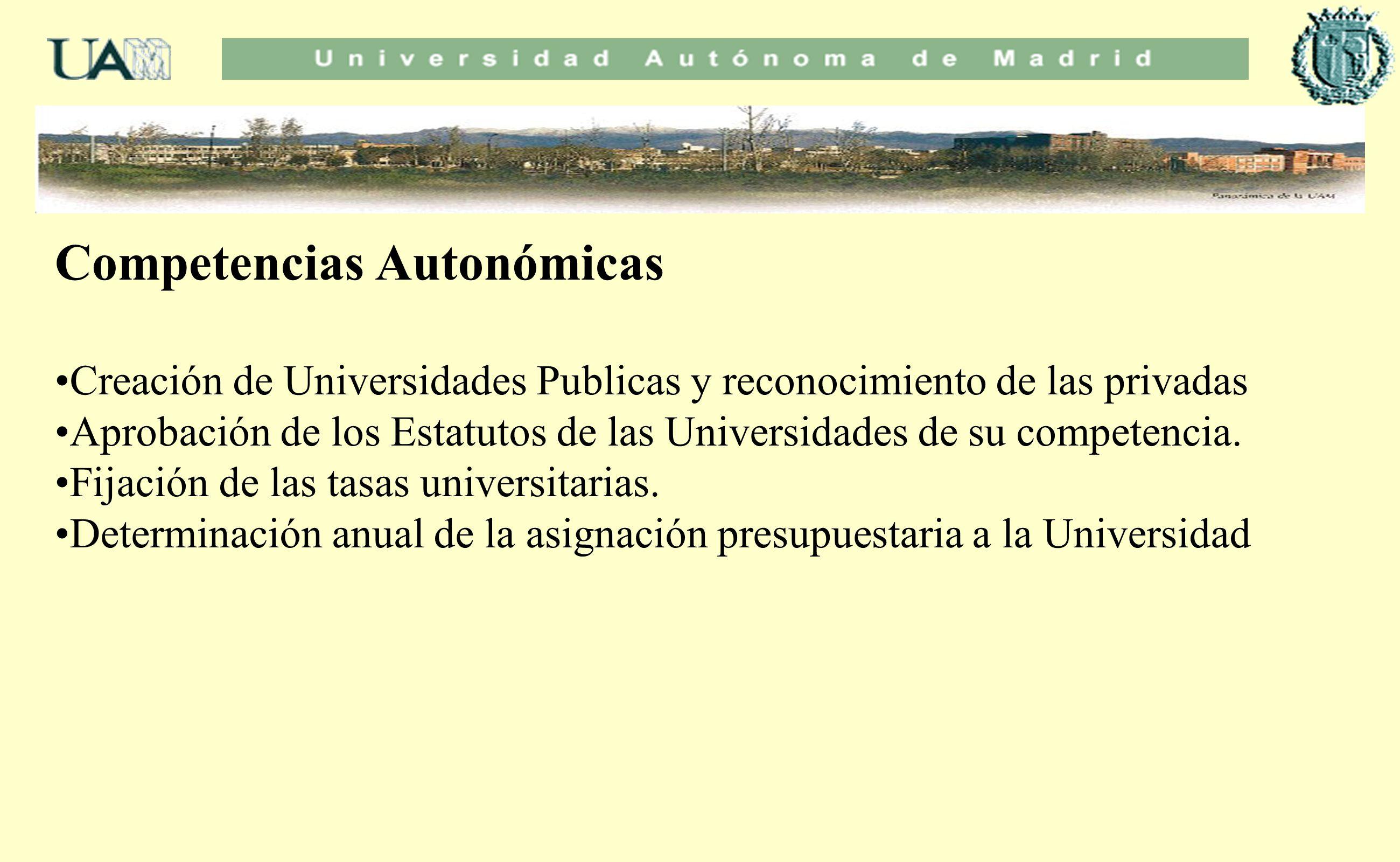 Competencias Autonómicas