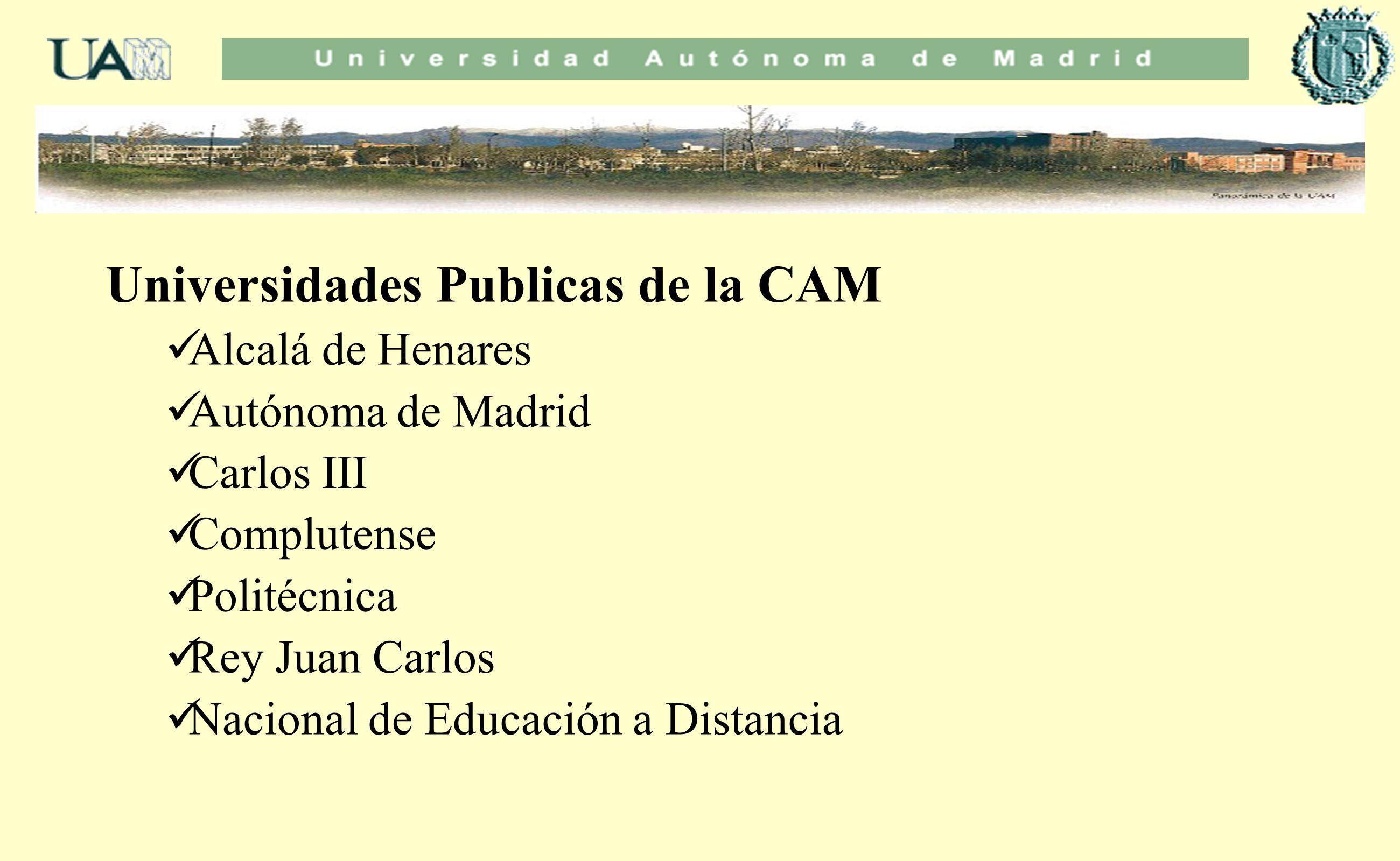 Universidades Publicas de la CAM