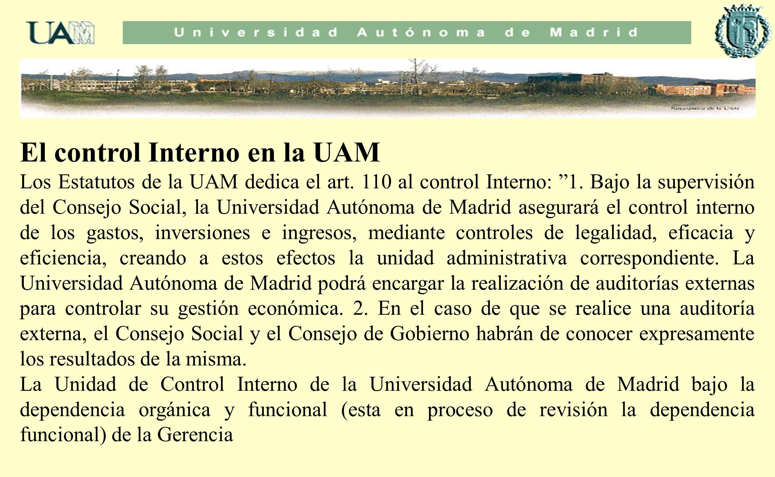 El control Interno en la UAM