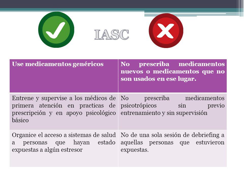 IASC Use medicamentos genéricos