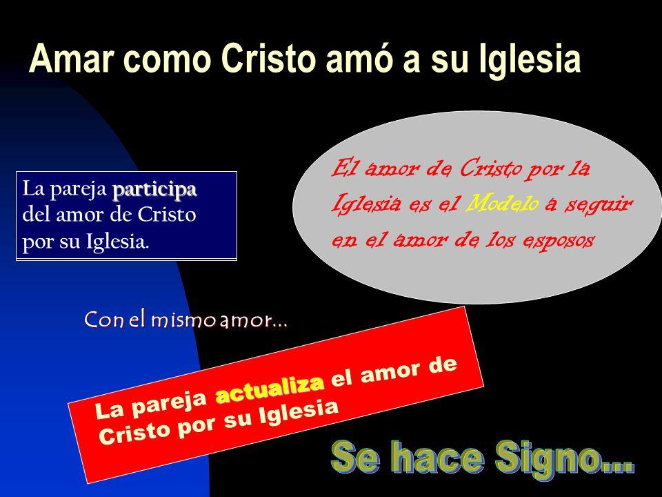 Amar como Cristo amó a su Iglesia