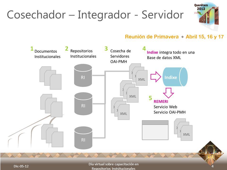 Cosechador – Integrador - Servidor