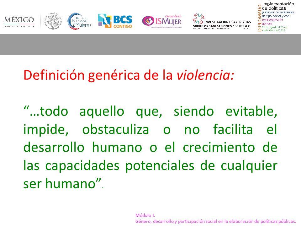 Definición genérica de la violencia: