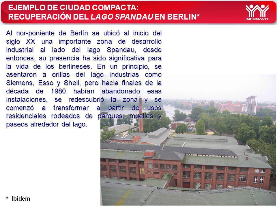 EJEMPLO DE CIUDAD COMPACTA: RECUPERACIÓN DEL LAGO SPANDAU EN BERLIN*