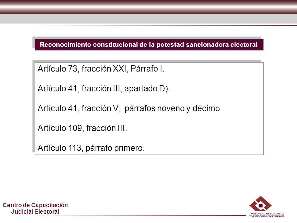 Reconocimiento constitucional de la potestad sancionadora electoral