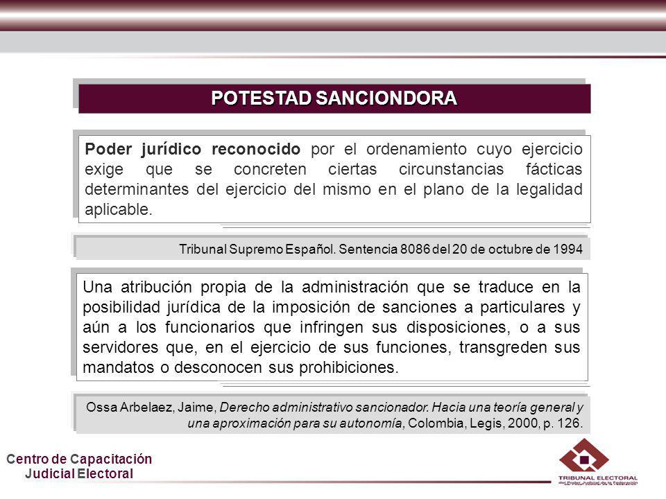 POTESTAD SANCIONDORA