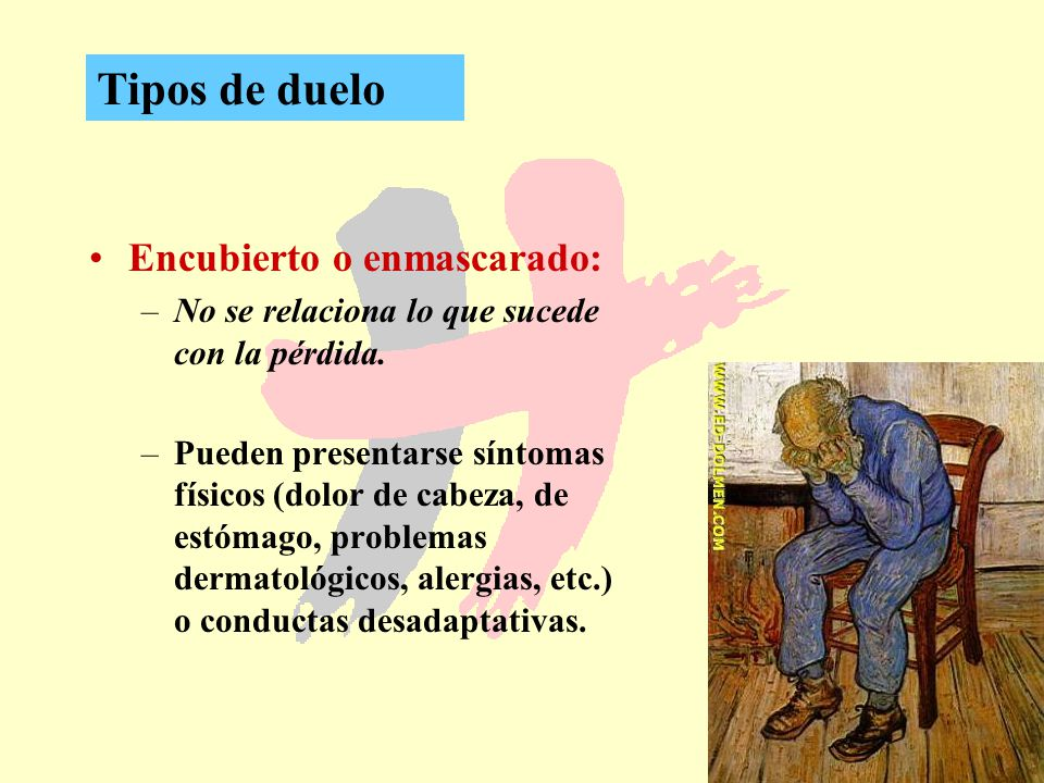 Tipos de duelo Encubierto o enmascarado: