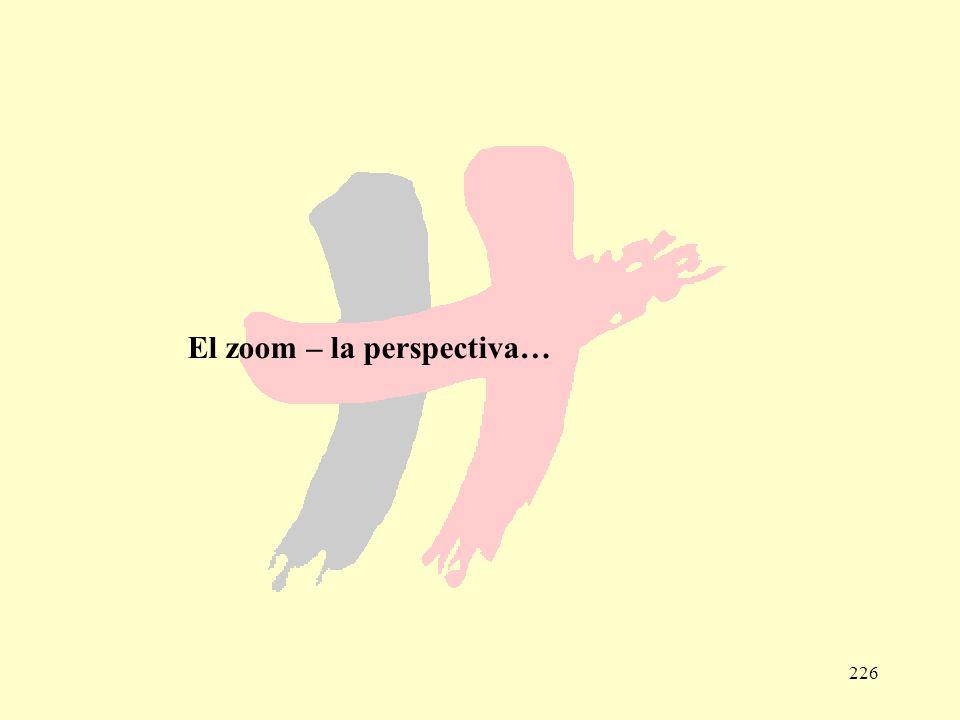 El zoom – la perspectiva…