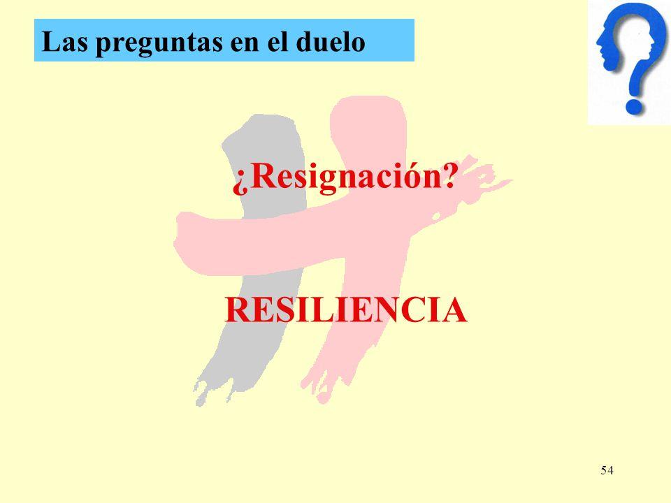¿Resignación RESILIENCIA
