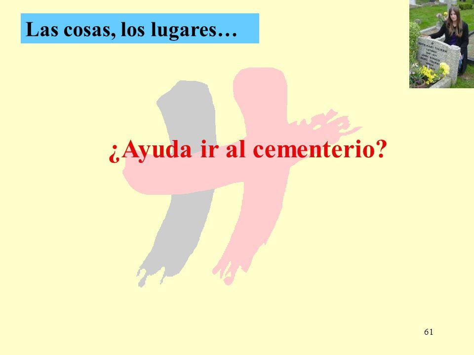 ¿Ayuda ir al cementerio