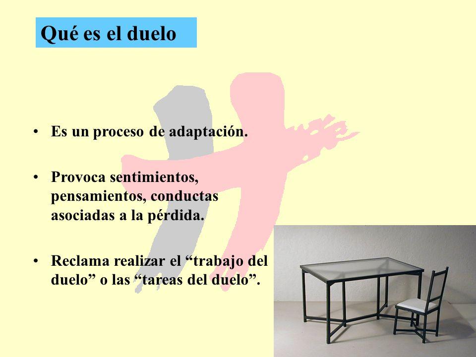 Qué es el duelo Es un proceso de adaptación.