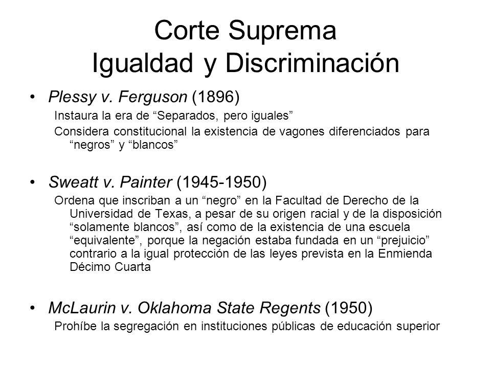 Corte Suprema Igualdad y Discriminación