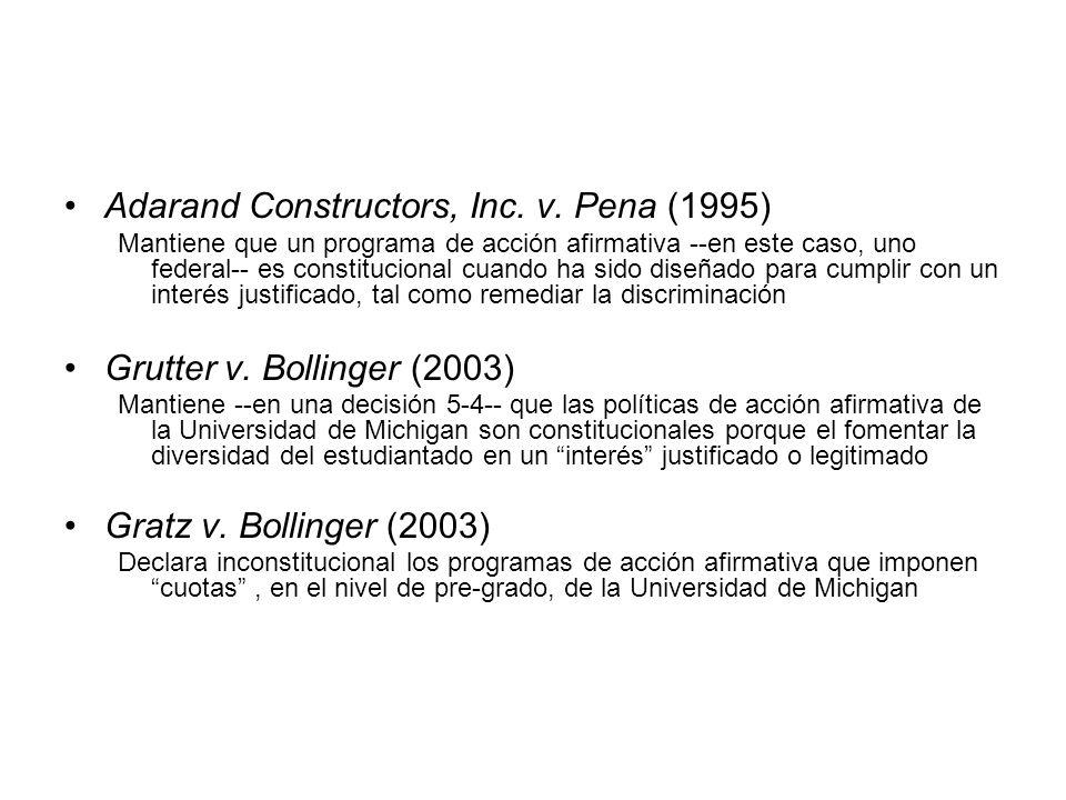 Adarand Constructors, Inc. v. Pena (1995)