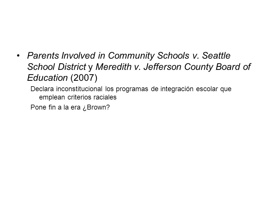 Parents Involved in Community Schools v