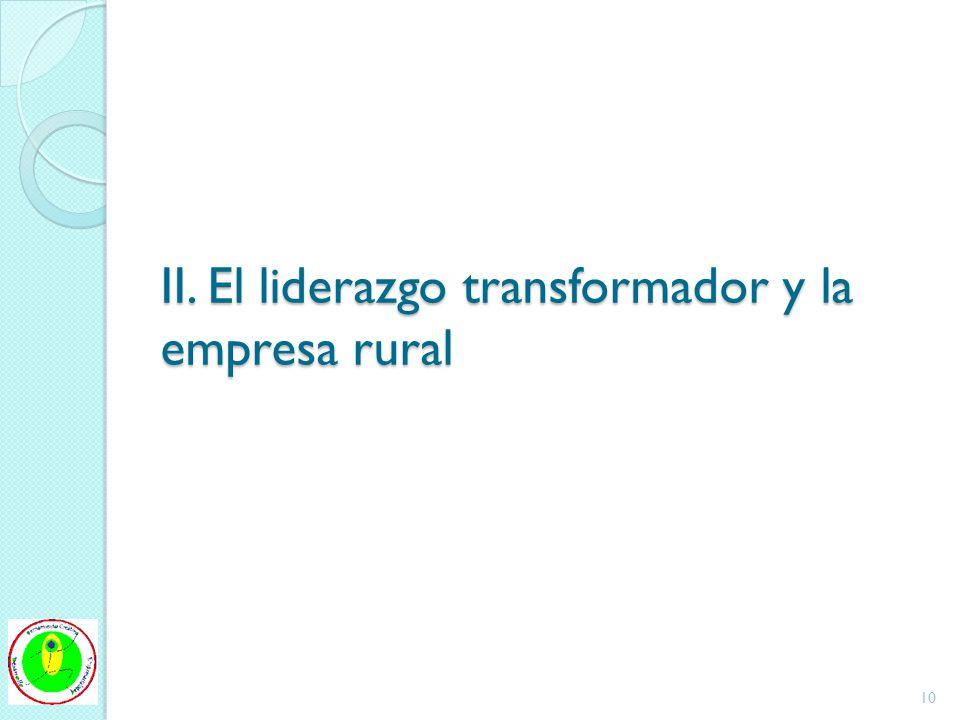 II. El liderazgo transformador y la empresa rural