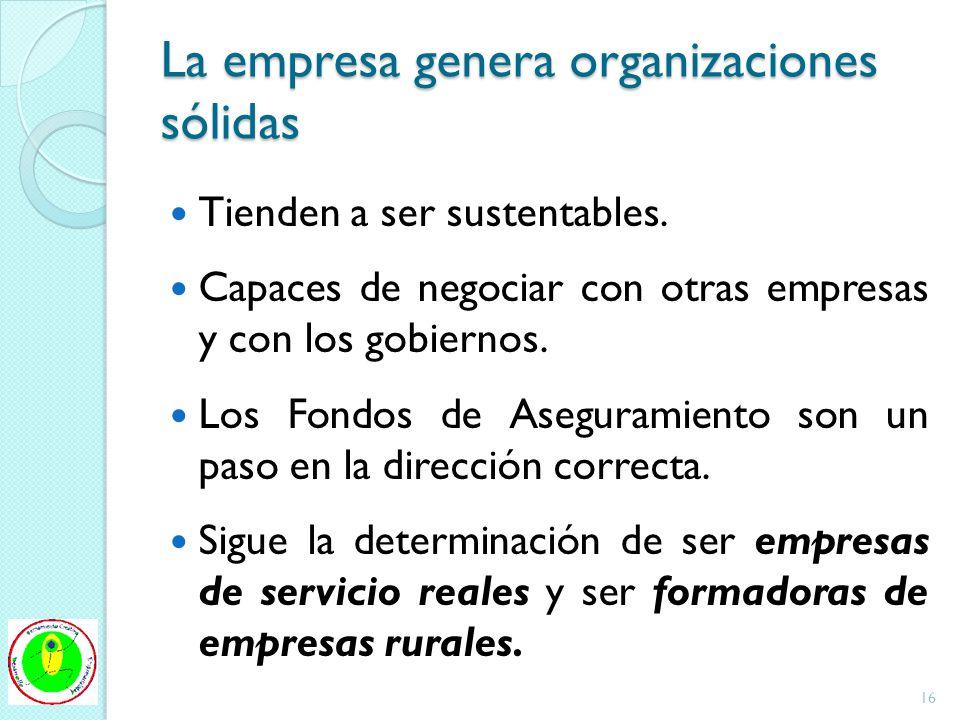 La empresa genera organizaciones sólidas