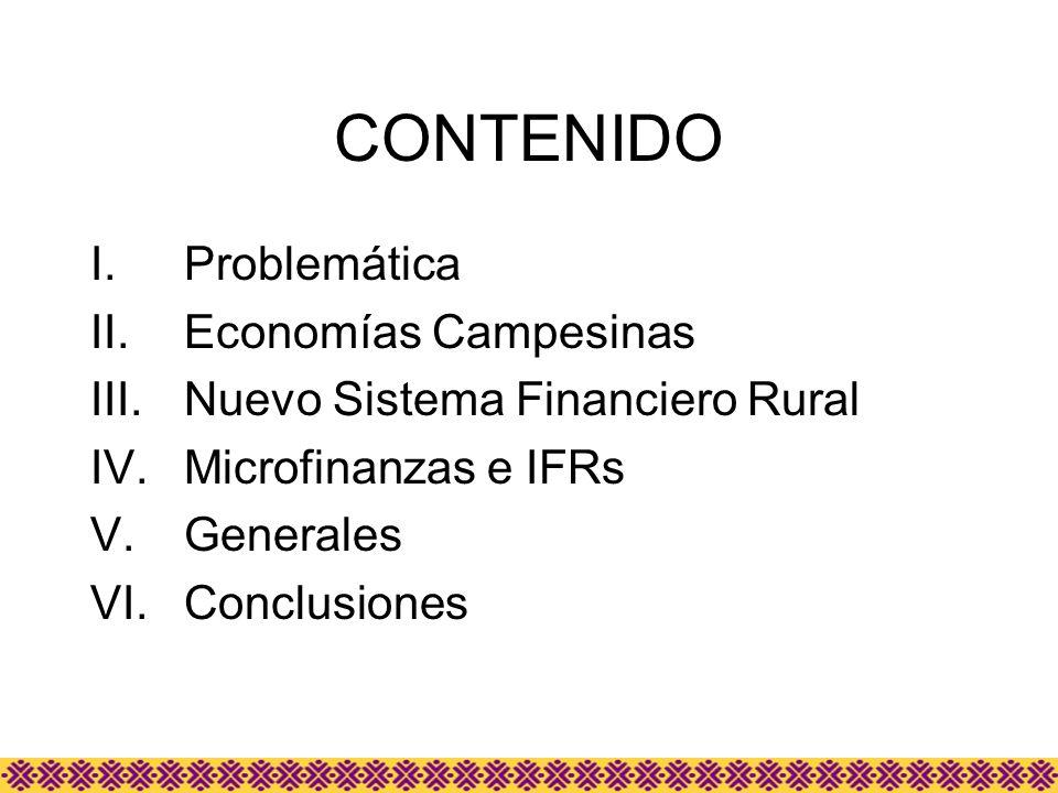 CONTENIDO Problemática Economías Campesinas