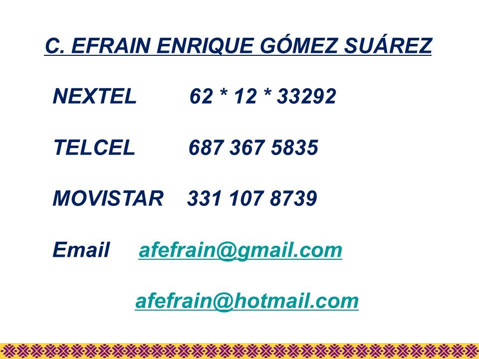 C. EFRAIN ENRIQUE GÓMEZ SUÁREZ