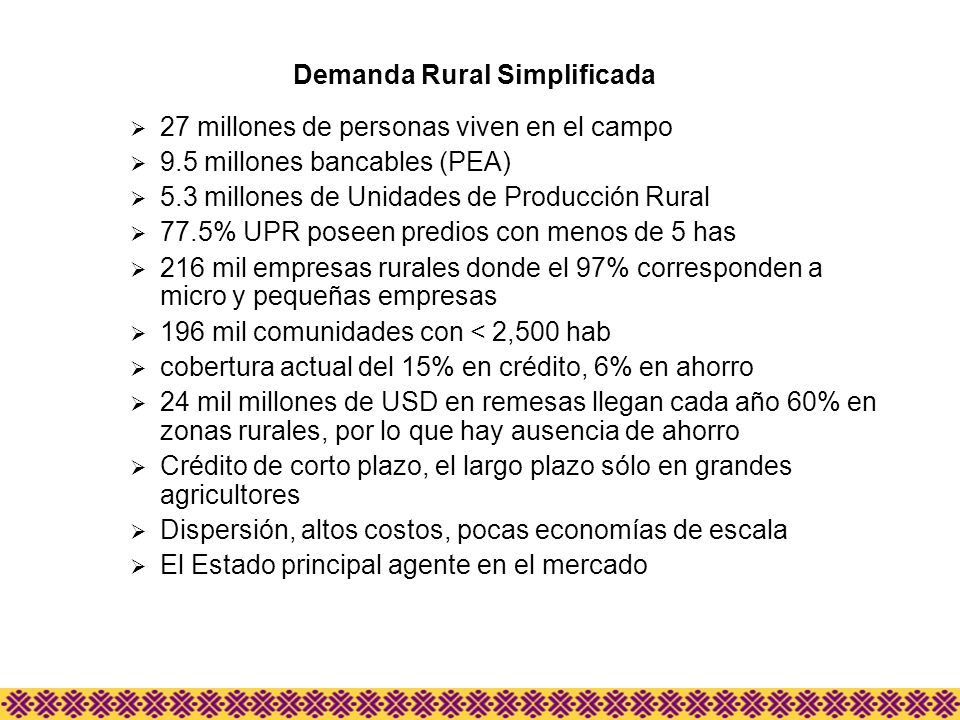 Demanda Rural Simplificada