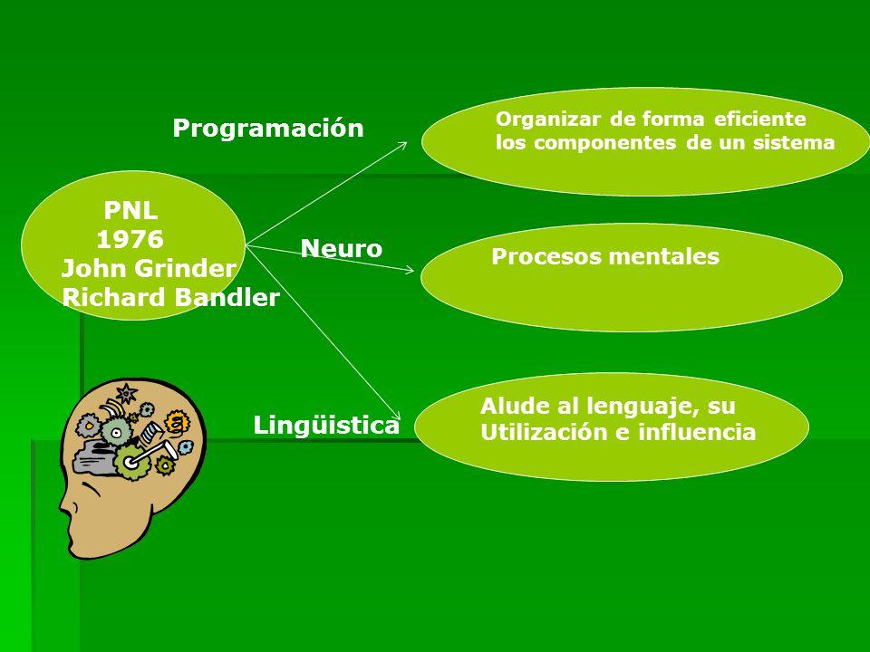 Programación PNL 1976 John Grinder Richard Bandler Neuro Lingüistica