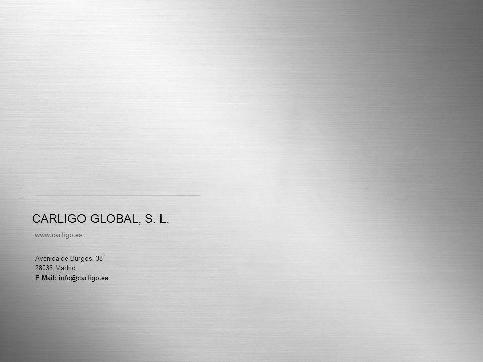CARLIGO GLOBAL, S. L. Página 18 www.carligo.es Avenida de Burgos, 38