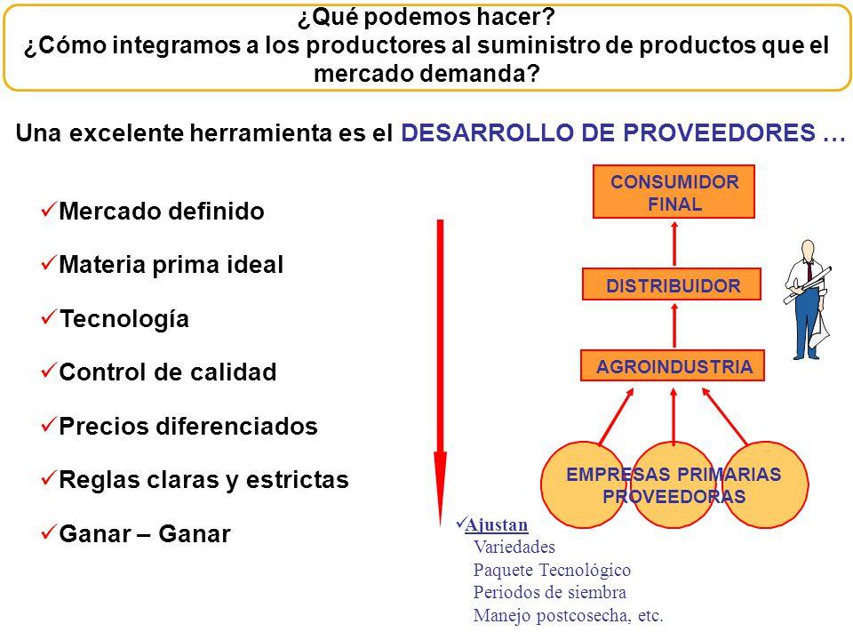 EMPRESAS PRIMARIAS PROVEEDORAS