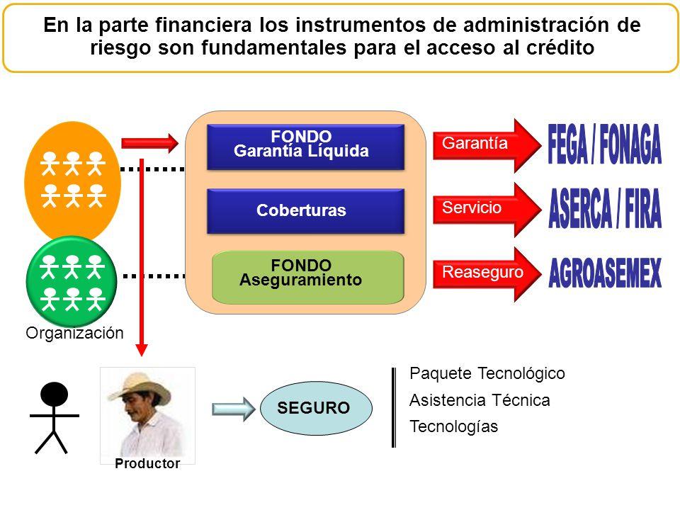 FEGA / FONAGA ASERCA / FIRA AGROASEMEX