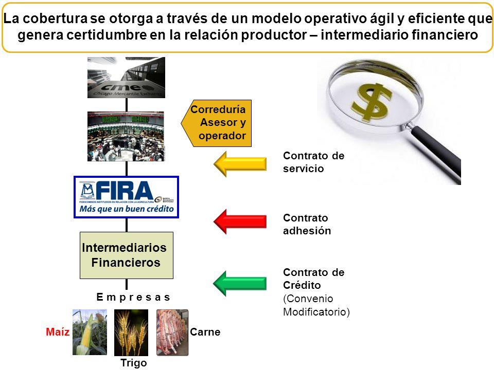 La cobertura se otorga a través de un modelo operativo ágil y eficiente que genera certidumbre en la relación productor – intermediario financiero