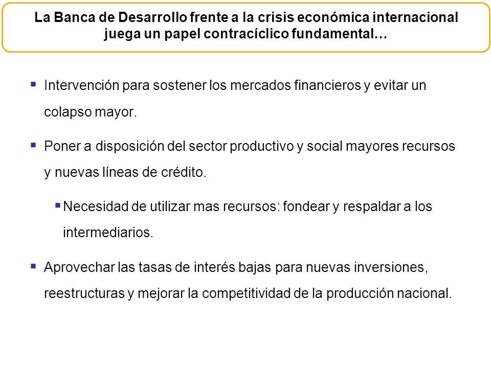 La Banca de Desarrollo frente a la crisis económica internacional juega un papel contracíclico fundamental…