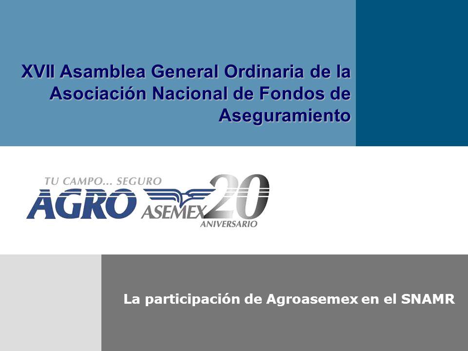La participación de Agroasemex en el SNAMR
