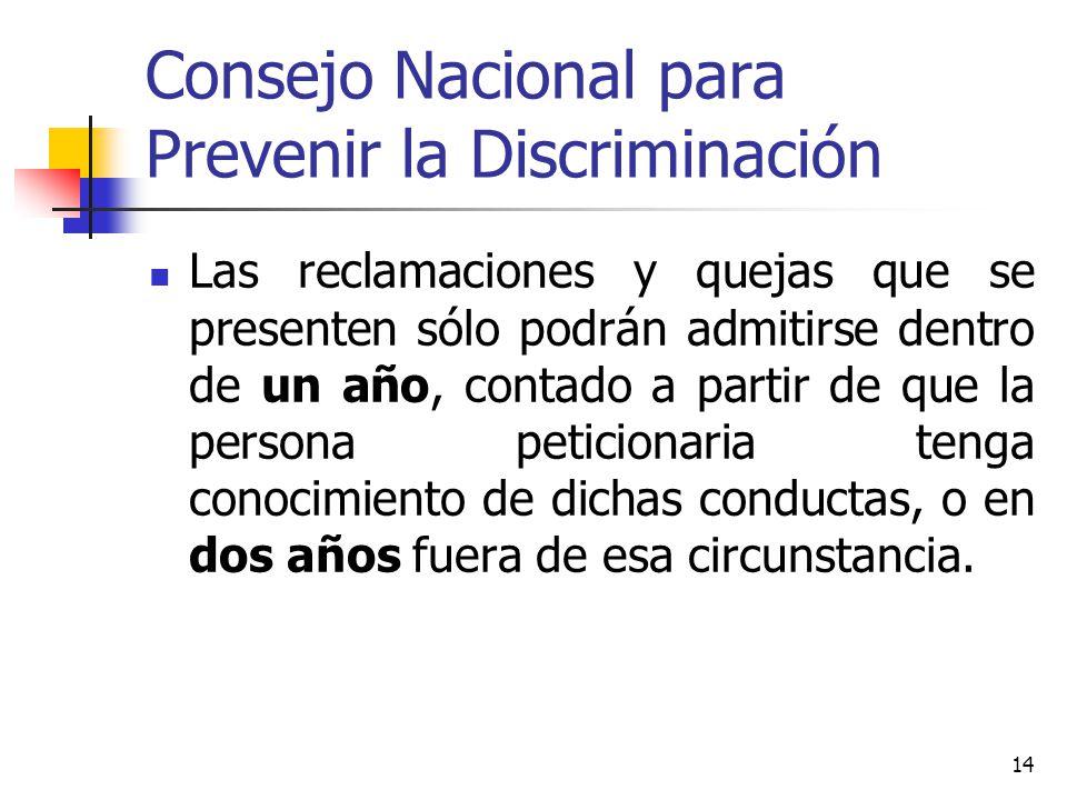 Consejo Nacional para Prevenir la Discriminación
