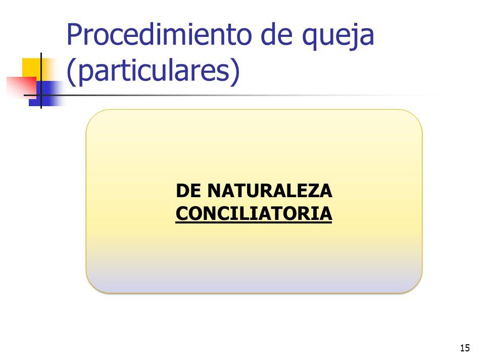 Procedimiento de queja (particulares)