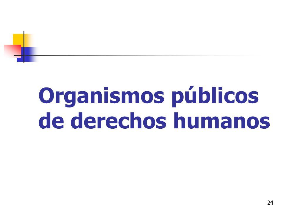 Organismos públicos de derechos humanos