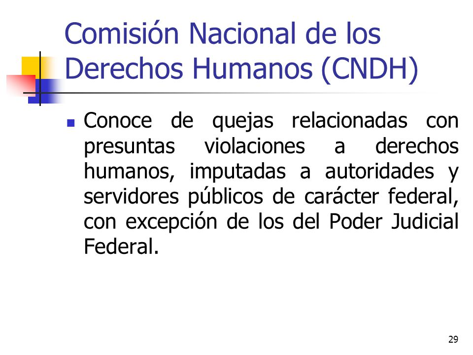 Comisión Nacional de los Derechos Humanos (CNDH)