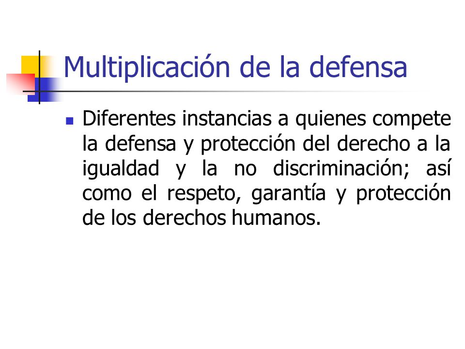 Multiplicación de la defensa