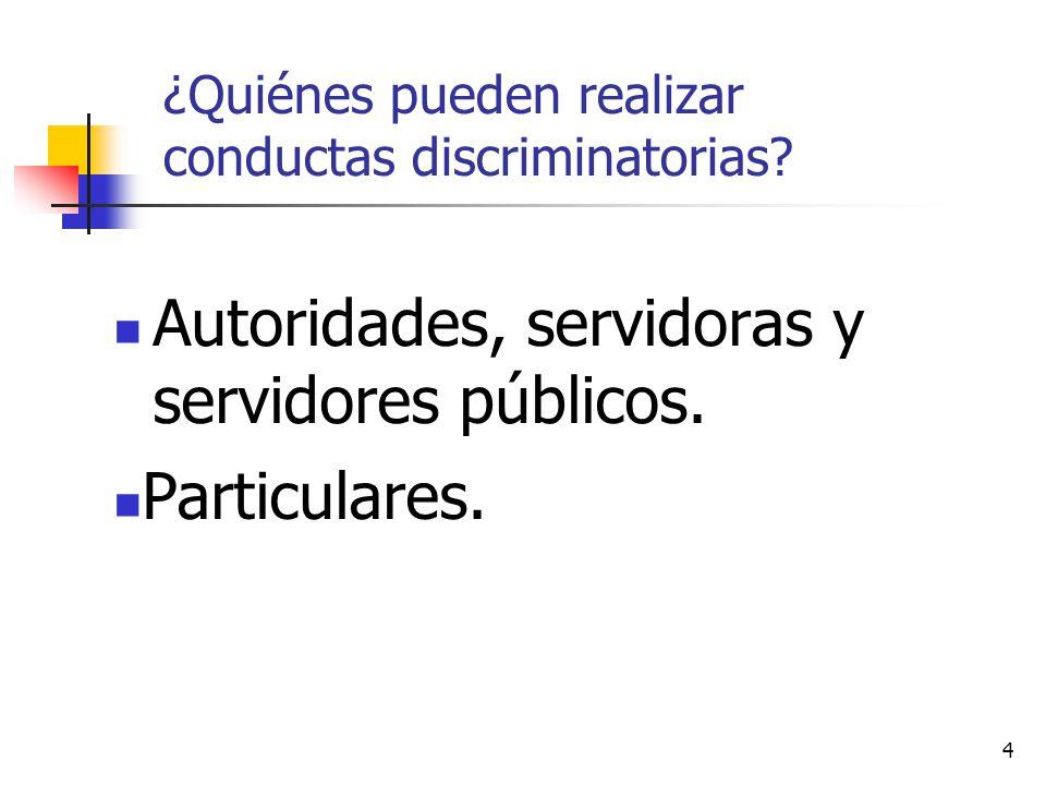 ¿Quiénes pueden realizar conductas discriminatorias