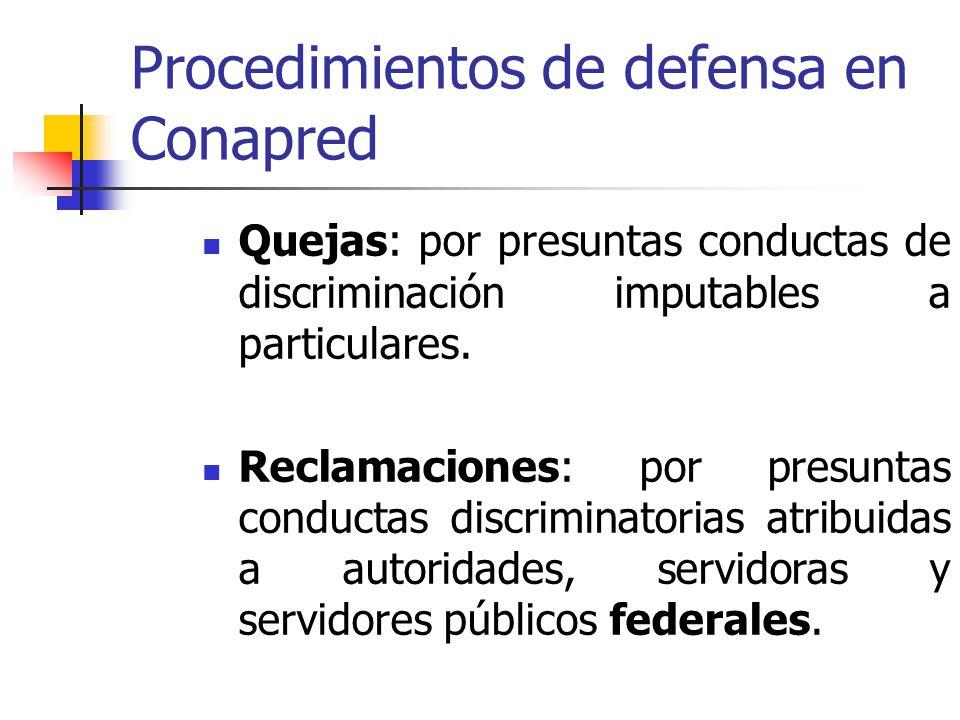 Procedimientos de defensa en Conapred