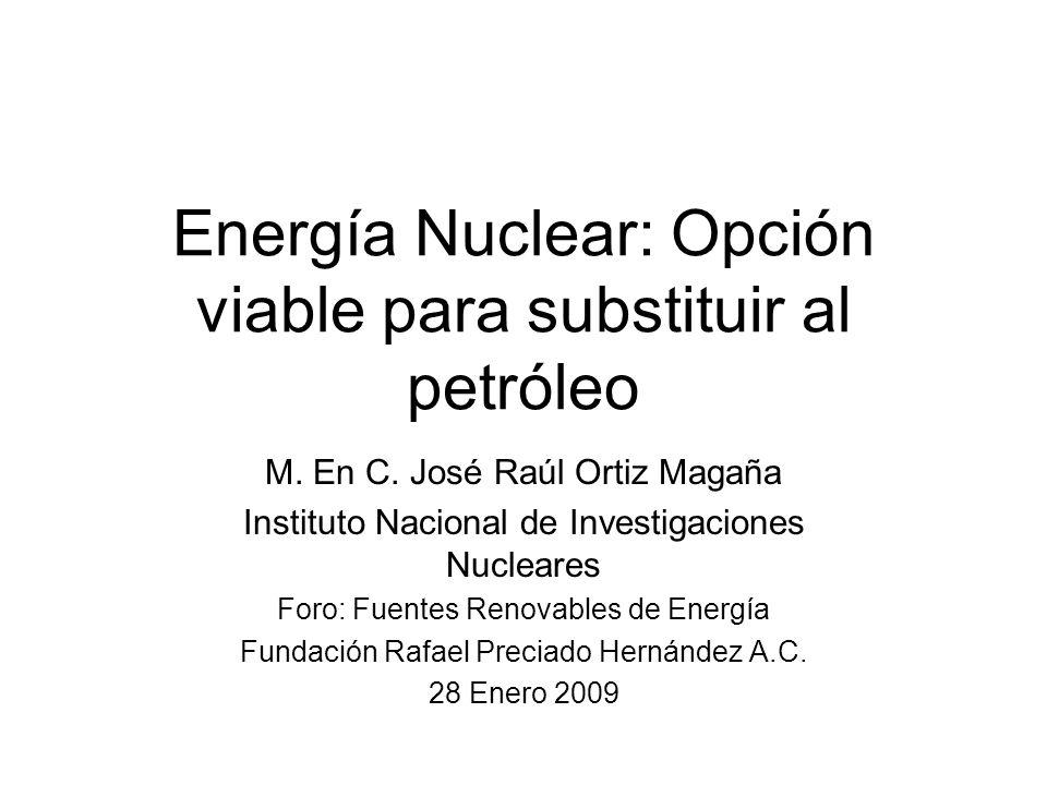 Energía Nuclear: Opción viable para substituir al petróleo