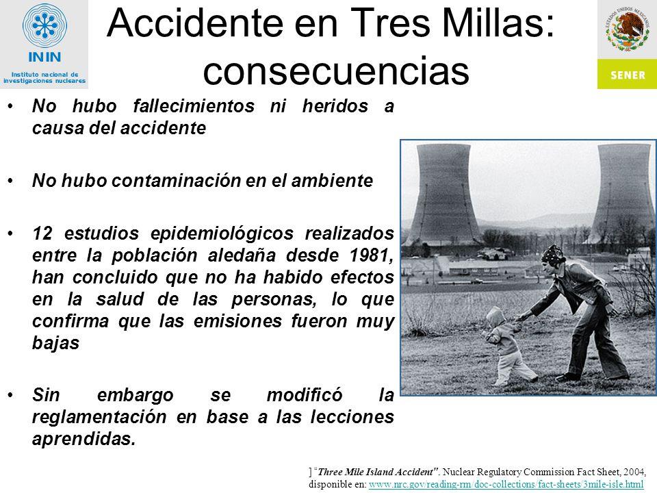 Accidente en Tres Millas: consecuencias
