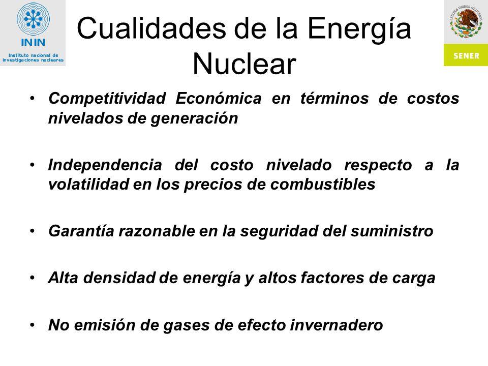 Cualidades de la Energía Nuclear