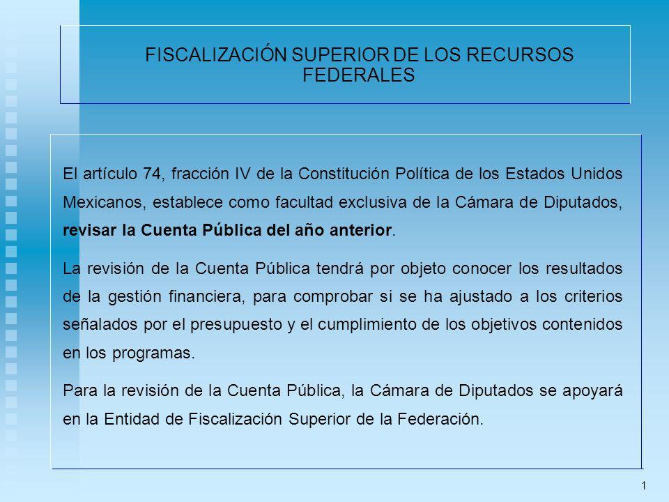 FISCALIZACIÓN SUPERIOR DE LOS RECURSOS FEDERALES