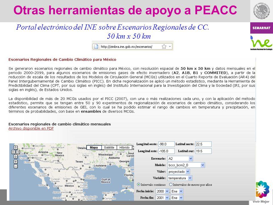 Otras herramientas de apoyo a PEACC