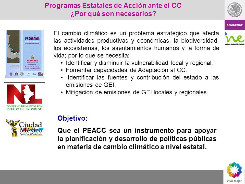 Programas Estatales de Acción ante el CC ¿Por qué son necesarios