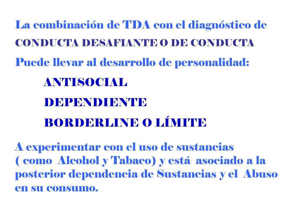 La combinación de TDA con el diagnóstico de